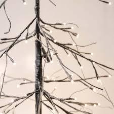 1 8m downswept snow twig tree with 240 warm white leds
