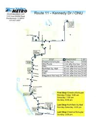 Valley Metro Map by Route 11 U2013 Kennedy Dr Onu River Valley Metro