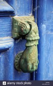 decorative door knockers decorative door knocker hand design roscoff brittany france stock