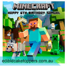 minecraft edible cake topper minecraft edible cake image 20cm square edible cake toppers