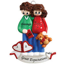 buy expecting baby ornament with baby names pregnancy