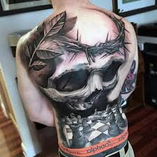 100 back piece tattoo designs 75 wonderful evil tattoos