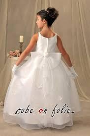 robe mariage enfants robe de mariée pour enfant en satin avec décor floral sur la jupe