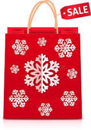 christmas shopping bags christmas shopping bag with paper snowflakes stock vector