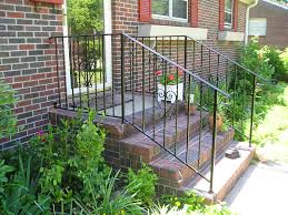 Landscaping Ideas For Front Of House by House Front Steps Wrought Iron Porch Railings Stair Rails