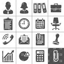 office icons simplus series royalty free vector clip art image