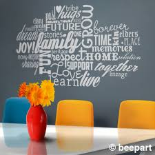 family love word cloud vinyl wall decal words about family love