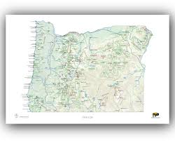 Oregon City Oregon Map by Outdoor Project Oregon Wall Map U2013 Outdoorproject