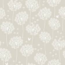 Peal And Stick Wall Paper Taupe Dandelion Peel And Stick Wallpaper Farmhouse Wallpaper