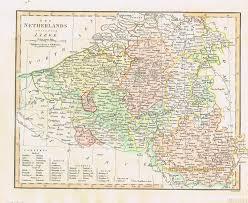Map Netherlands Antique Maps And Charts U2013 Original Vintage Rare Historical