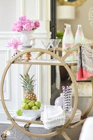 dining room cart shop around the house how to style a bar cart in 10 minutes or