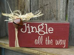 christmas wood block jingle all the way by buzzingbeescrafts