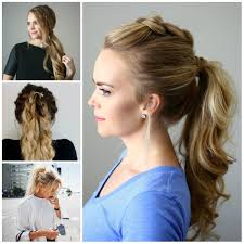 Hairstyles Easy And Quick by How To Do Easy Hairstyles At Home 2017 For Girls Latest Fashion