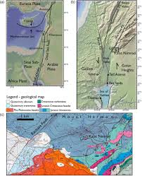 Dead Sea Map Quantifying Earthquake Effects On Ancient Arches Example The