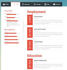 html resume template vcard resume templates great html resume template free career