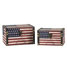 Why Is The American Flag Red White And Blue Household Essentials Red White And Blue Storage Trunk 9279 1 The