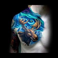 60 moose tattoo designs for men antler ink ideas