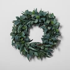 eucalyptus wreath eucalyptus wreath 24 hearth with magnolia target