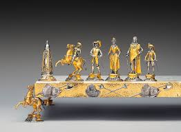 historical gold and silver chess sets by piero benzoni pursuitist