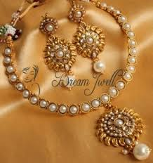 pearl necklace online images Moti necklace set gorgeous pearl necklace set online shopping jpg