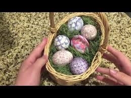 Decorating Easter Eggs With Silk by Silk Tie Easter Eggs Youtube