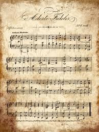 grungy aged vintage christmas carol music adeste fideles music