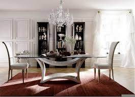 Modren Glass Table Dining Room Kitchen Great And Chairs S With - Glass dining room