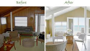 Painting Wall Paneling Whitewash Wood Paneling Makeover Before And After Best House Design