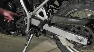 klr 650 maintenance chain slack adjustment youtube
