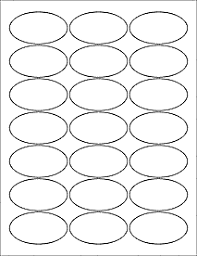 Label Printing Template 21 Per Sheet by Oval Labels Oval Stickers Ol9830 2 5 X 1 375 Oval