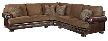 L Leather Sofa Bernhardt Foster Fabric Leather Sectional 5192lco