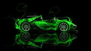 ferrari sergio side green fire abstract car 2014 hd wallpapers