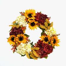 hydrangea wreath cdwr593 and burgundy hydrangea wreath creative displays