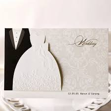 groom and groom wedding card 10 pieces lot new classic and groom wedding invitation