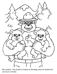 download smokey bear coloring pages collection printable