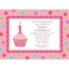 1st birthday cupcake 1st birthday girl personalized invitation custom