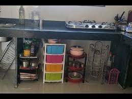 how can i organize my kitchen without cabinets kitchen tour how to organise unfurnished kitchen without