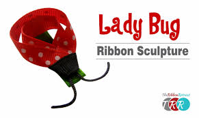 ladybug ribbon how to make a ladybug ribbon sculpture theribbonretreat