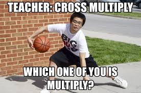 Asian Meme - teacher cross multiply which one of you is multiply asian