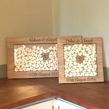 wedding guestbook wooden drop box wedding guest book alternative personalised with