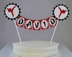 karate cake topper cake topper etsy