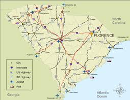 Charleston Sc Map Greater Florence Chamber Of Commerce Area Map