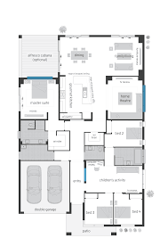 elegant floor plans with four bedroom and children activity space