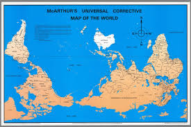 Map Of Thr World by Mcarthur U0027s Universal Corrective Map Of The World David Rumsey