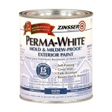 Patio Paint Home Depot by Zinsser 1 Qt Perma White Mold And Mildew Proof White Satin