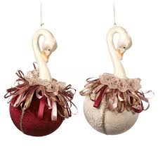 swan on ball christmas ornaments royal things