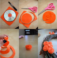 Handmade Things For Home Decoration Diy Felt Fabric Flower For Decoration Proyectos Pinterest