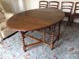 Oval Drop Leaf Dining Table Edwardian Solid Oak Barley Twist Oval Gate Leg Drop Leaf Dining