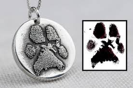 personalized paw print necklace dog paw print necklace jewelry custom personalized sterling