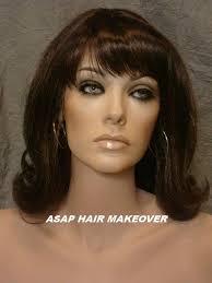 front flip hair shoulder medium length bumped crown classy flip style lace front